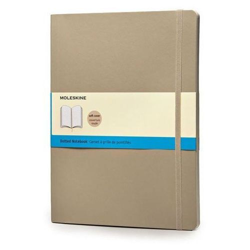 Notes XL Moleskine w kropki beżowy (9788867323784)