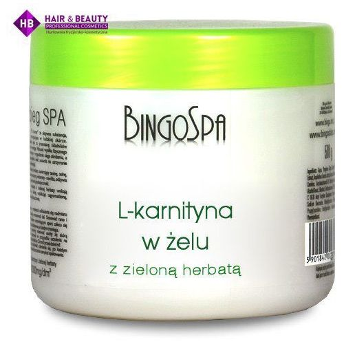 BINGOSPA L-karnityna w żelu z zieloną herbatą 500g - produkt z kategorii- Kremy wyszczuplające