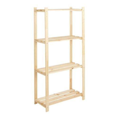 Regał drewniany 30 x 65 x 130 cm 4 półki 20 kg, WBWDRT4118