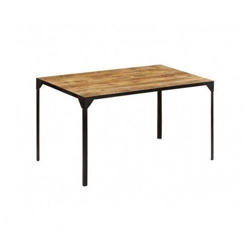 Stół w stylu industrialnym ze stali i drewna Kartes 2X – brązowy