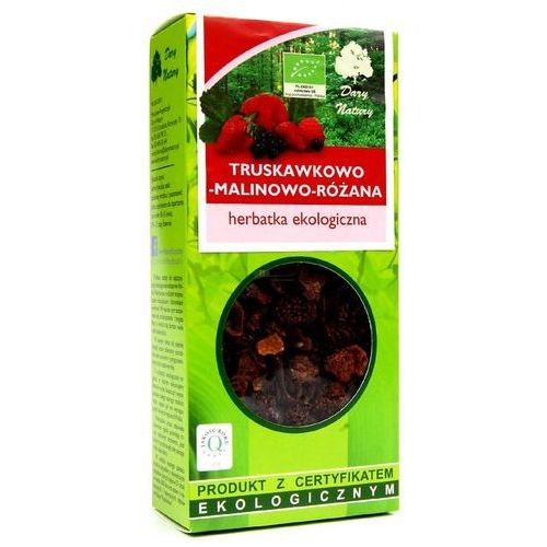 Herbatka Truskawkowo - Malinowo - Różana BIO 100 g Herbata Dary Natury