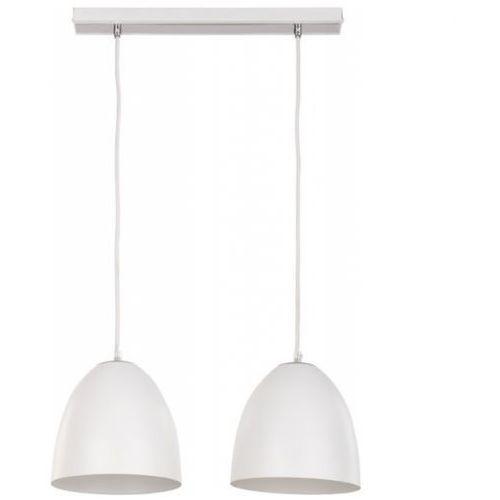 Lampa wisząca Sigma Fidzi 2 białe klosze z metalu, kolor Biały
