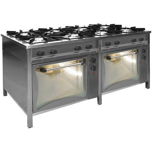 Kuchnia gazowa 8-palnikowa z 2 piekarnikami elektrycznymi tg 8736 + 2xpke-1 marki Egaz