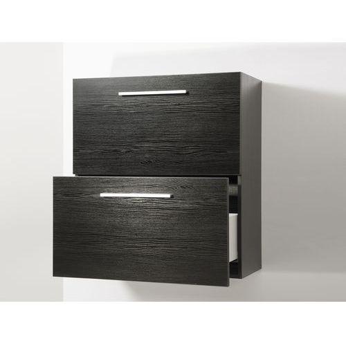 Meble łazienkowe - szafka wisząca łazienkowa czarna - murcia, marki Beliani