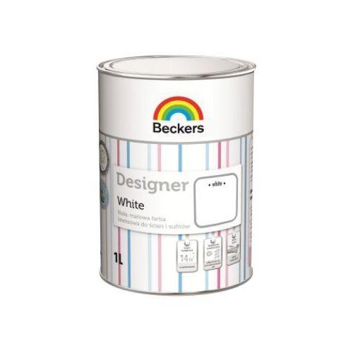 BECKERS DESIGNER WHITE- farba lateksowa, 1 l (głęboki mat), kolor biały