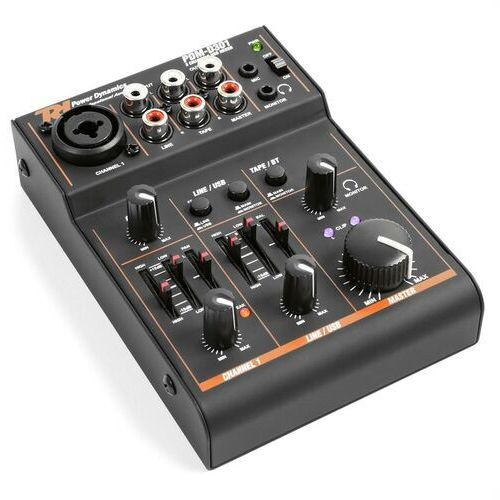 Power dynamics pdm-d301 3-kanałowy pulpit mikserski usb 2-pasmowy equalizer