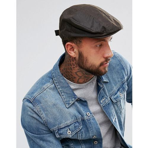 New Look Flat Cap In Washed Khaki - Green