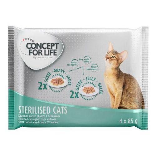 Concept for life Pakiet próbny - 4 x 85 g - all cats - 2 x w sosie, 2 x w galarecie (4260358517513)
