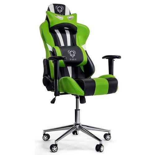 Fotel chairs x-eye czarno-biało-zielony + zamów z dostawą jutro! marki Diablo