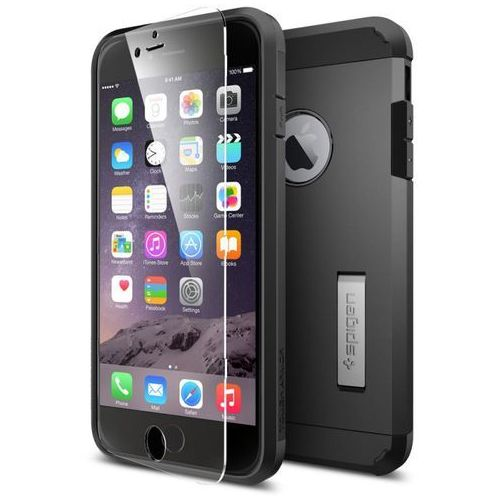 Etui SPIGEN SGP11279 do iPhone 6 Plus Czarny, kolor czarny