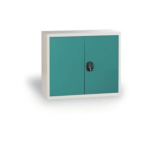 Szafa metalowa, 800x920x400 mm, 1 półka, szary/zielony