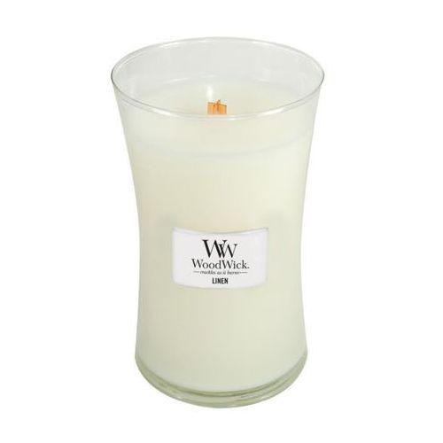 - świeca duża linen 175h marki Woodwick