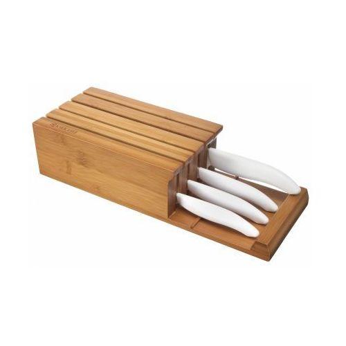 Kyocera Blok z 4 białymi nożami ceramicznymi Kyocera Kolor