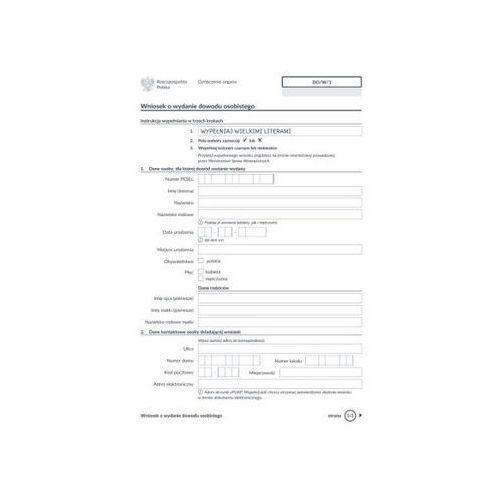 Wniosek o wydanie dowodu osobistego [Do/W/1]