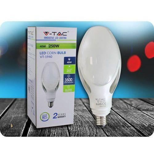 E27 Żarówka LED 40W + Bezpłatna natychmiastowa gwarancja wymiany! Zimna biała 6500K