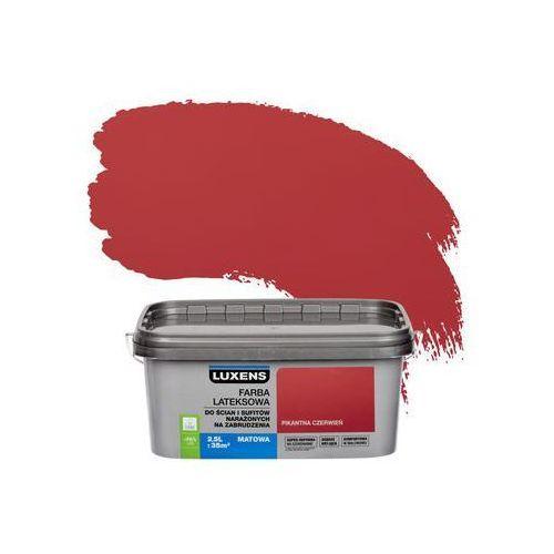 Farba wewnętrzna narażonych na zabrudzenia 2,5 l pikantna czerwień marki Luxens