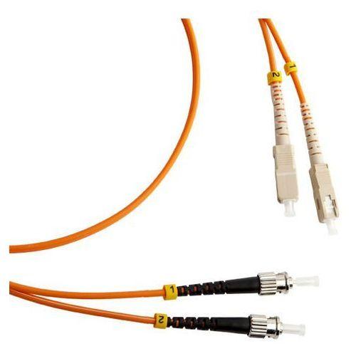 SC/PC-ST/PC - Duplex - 2 meter - 50/125 µm - OM2 - fiber patch cable
