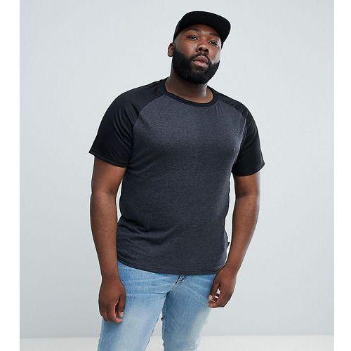 plus raglan mesh sleeve t-shirt - black, D-struct, XXL-XXXXL