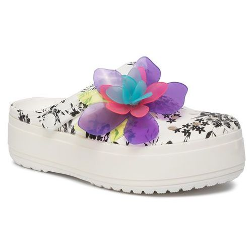 Klapki CROCS - Cb Platform Hyper Tropic Clog 205853 Neon Floral/White, w 4 rozmiarach