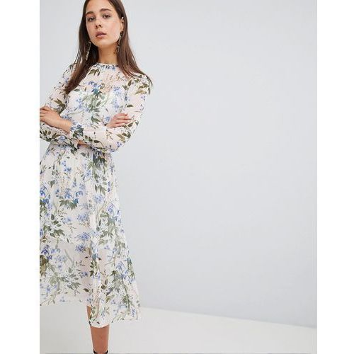 New look summer floral midi dress - white