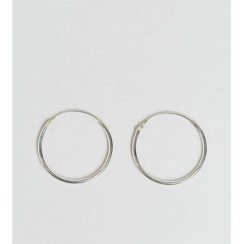 sterling silver 20mm fine hoop earrings - silver marki Kingsley ryan