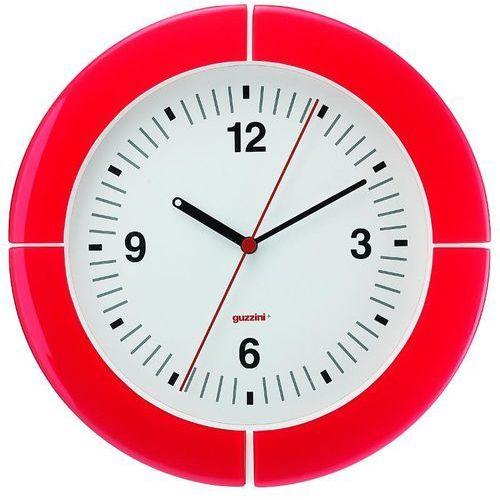 Guzzini - zegar ścienny - casa - czerwony - czerwony