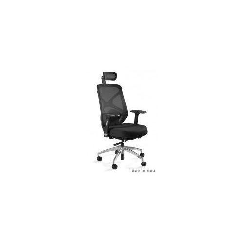 Unique meble Krzesło biurowe hero czarne siatka/ tkanina