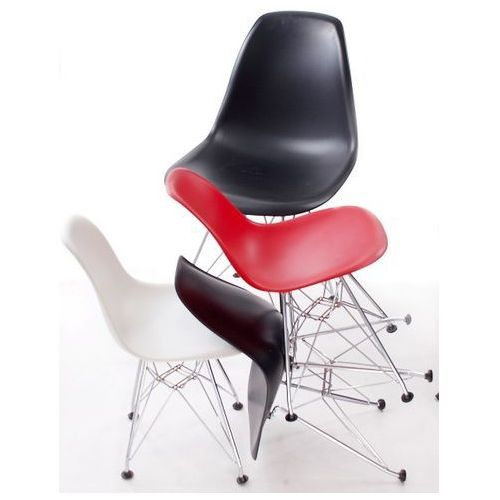 Krzesło JuniorP016 czarne, chrom. nogi MODERN HOUSE bogata chata