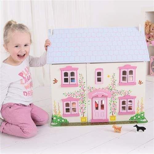 Drewniany Domek dla lalek do zabawy dla dzieci, Bigjigs