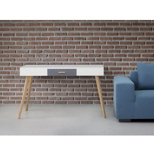 Biurko białe - meble biurowe - stolik - biurko komputerowe - rush marki Beliani
