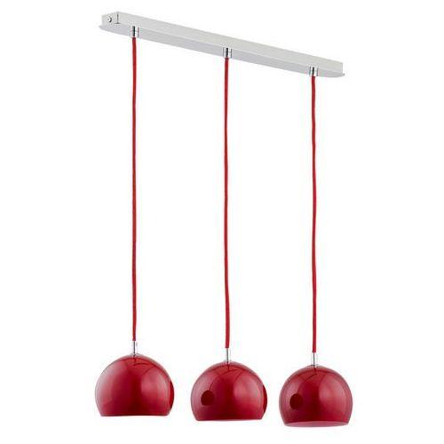 Lampa wisząca Alfa Waterfall 21016. Red kule zwis 3x40W E14 chrom/czerwona >>> RABATUJEMY do 20% KAŻDE zamówienie!!!