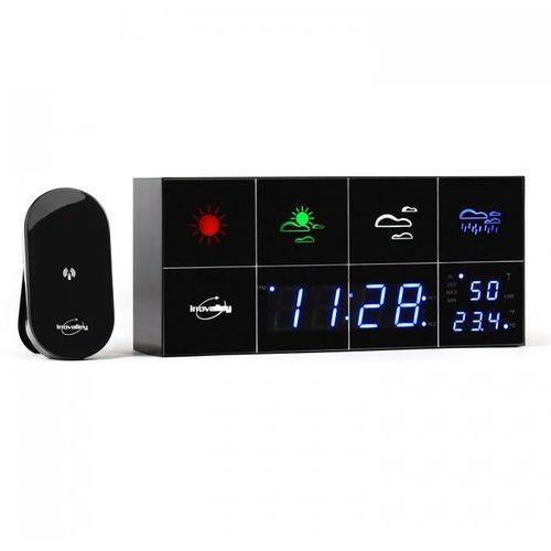 Innovalley SM500 stacja pogodowa budzik termometr higrometr lustro