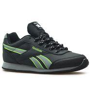 Buty młodzieżowe royal cljog 2rs czarne/szare/zielone marki Reebok