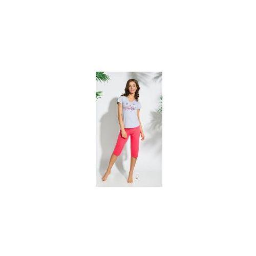 Piżama damska TARO 086 Sylwia jasno szara, kolor szary