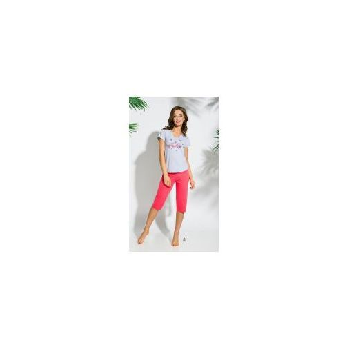 Piżama damska TARO 086 Sylwia jasno szara