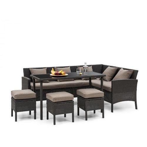 Blumfeldt Titania Dining Lounge Set Komplet mebli ogrodowych, czarny/brązowy (4060656193897)
