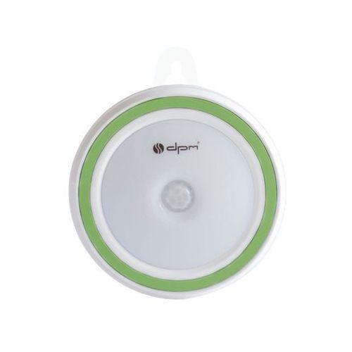 Lampka LED na baterie ML7000PIR z czujnikiem ruchu i zmierzchu zielona DPM