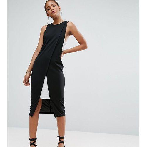 colourblock wrap pencil dress - multi, Asos tall