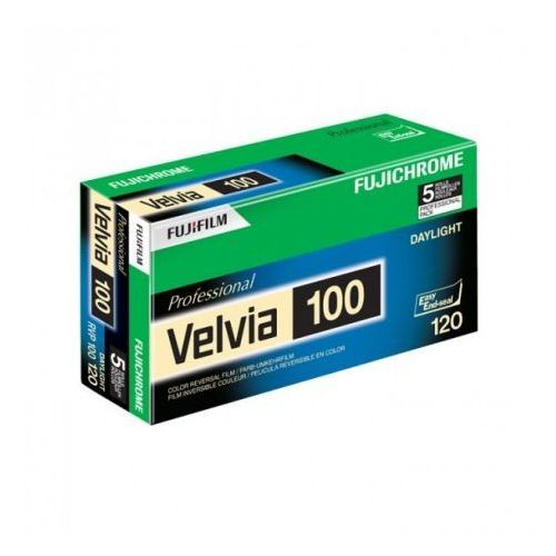 Fujichrome Velvia 100 typ 120 slajd kolorowy waż. 08/2020