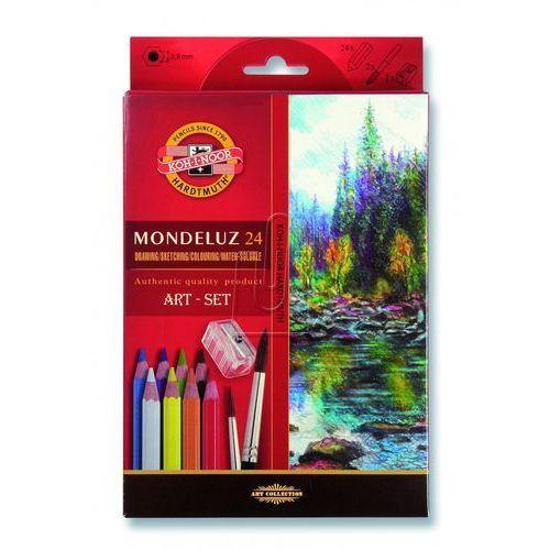 Kredki Mondulez 24 kolory + pędzel - Koh-I-Noor