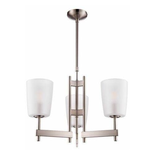 Goodhome Lampa wisząca quadryx 3-punktowa e14 szczotkowany chrom