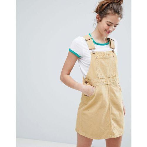 dungarees mini dress - yellow marki Monki