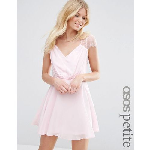 kate lace mini dress - pink marki Asos petite
