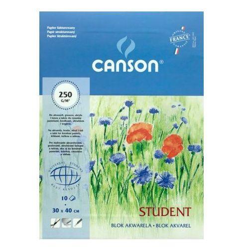 student blok akwarelowy 30x40/10 250g/m marki Canson