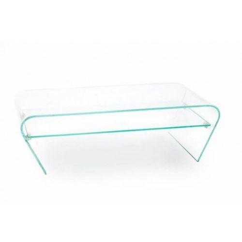 Stolik szklany casa violino opti z półką - szkło transparentne, półka transparentna marki King home
