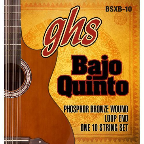 GHS Bajo Quinto, struny do gitary akustycznej, Loop End 10 String,.024-.078
