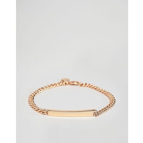 flat curb id bracelet in gold - gold marki Chained & able