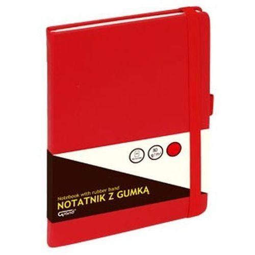 Grand Notatnik z gumką czerwony a5/80 kartek kratka - kw trade