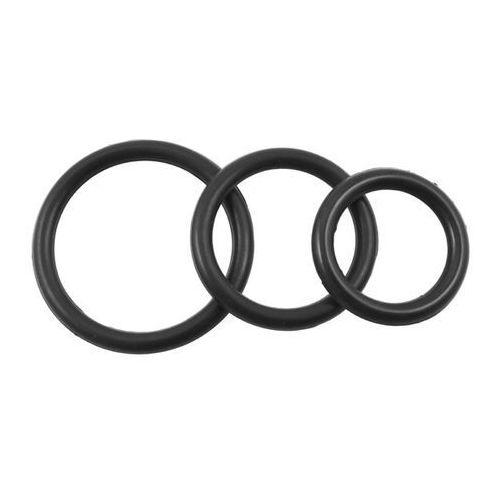 Perfect fit brand Pierścienie silikonowe - perfect fit silicone 3 ring kit mix black zestaw