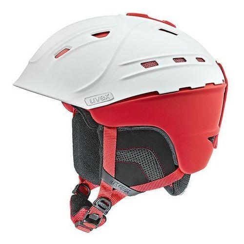 Uvex Kask narciarski  p2us biało/czerwony mat l (59-61cm)
